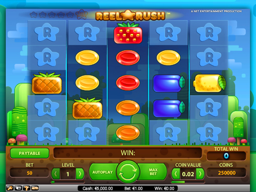 Reel Rush Video Slot - Fruit Wins Are Uncountable