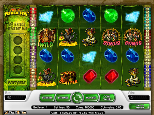 Relic Raiders™ Slot Machine Game to Play Free in NetEnts Online Casinos