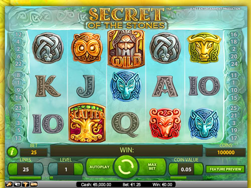 Secret of the Stones™ Slot Machine Game to Play Free in NetEnts Online Casinos