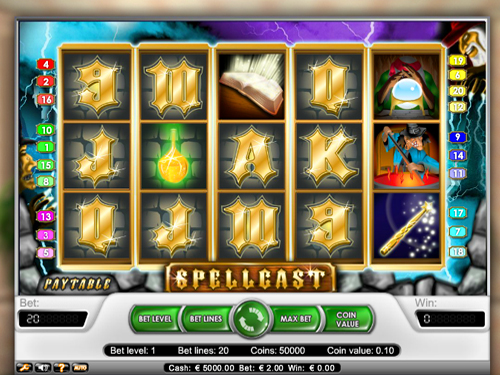Spellcast slot machine is as ususal lucrative, bright and entertaining. It`s the best way to earn money and relax.