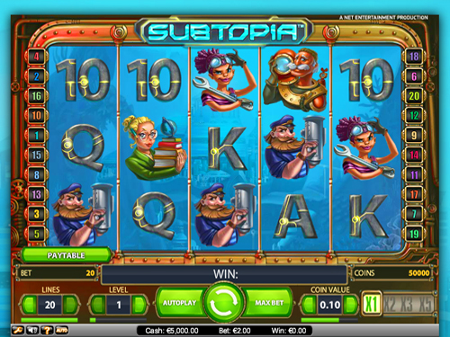 Subtopia Slots High Payouts And Great Graphics Will Make You A Fan Of NetEnt Games For A Long Time