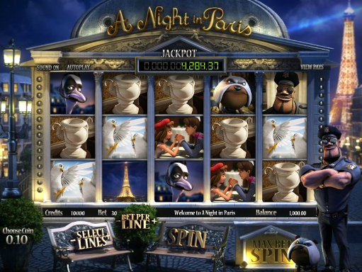 A Night in Paris™ Slot Machine Game to Play Free in BetSofts Online Casinos