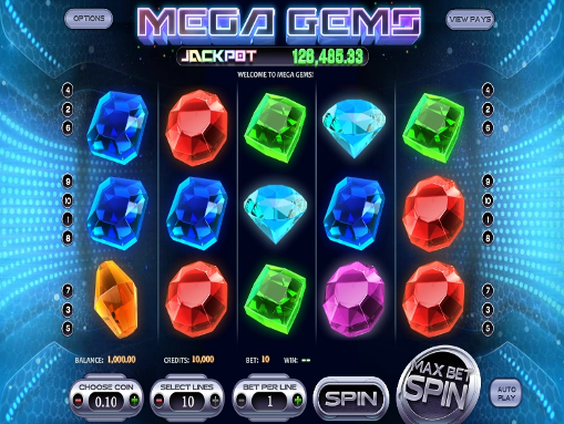 Mega Gems™ Slot Machine Game to Play Free in BetSofts Online Casinos