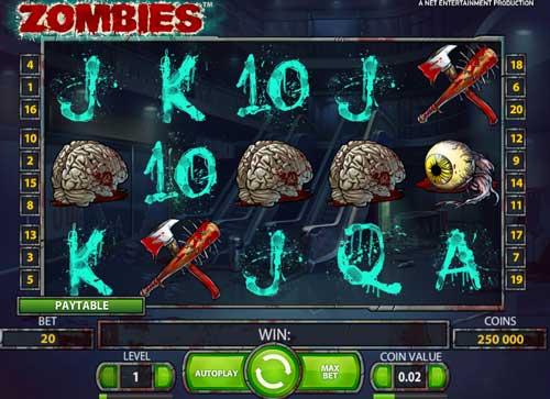 Play Zombie slot game online