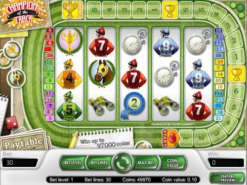 Champion Of The Track™ Slot Machine Game to Play Free in NetEnts Online Casinos