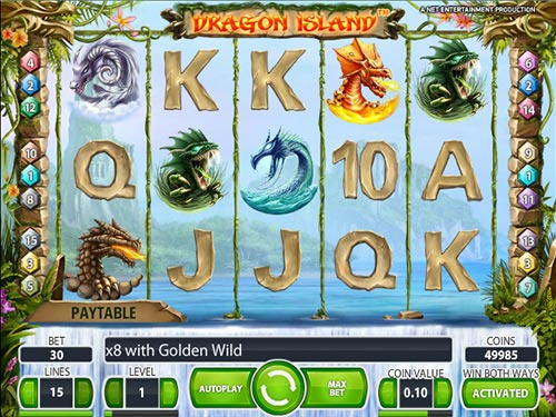 slots machines online dragon island