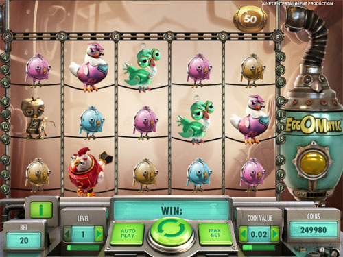 EggOmatic NetEnt Online Slot for Real Money - Rizk Casino
