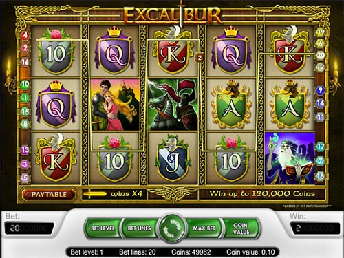 excalibur free slot machine