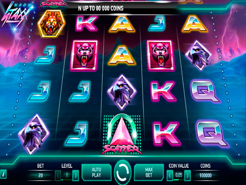 Neon Staxx™ Slot Machine Game to Play Free in NetEnts Online Casinos