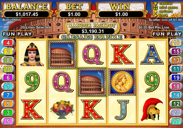 Roman Gold Slot Machine - Free to Play Demo Version