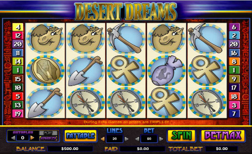 Desert Dreams™ Slot Machine Game to Play Free in Cryptologics Online Casinos