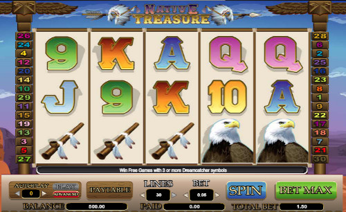 Native Treasure™ Slot Machine Game to Play Free in Cryptologics Online Casinos