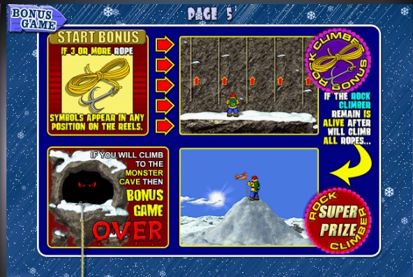 slot machine rock climber