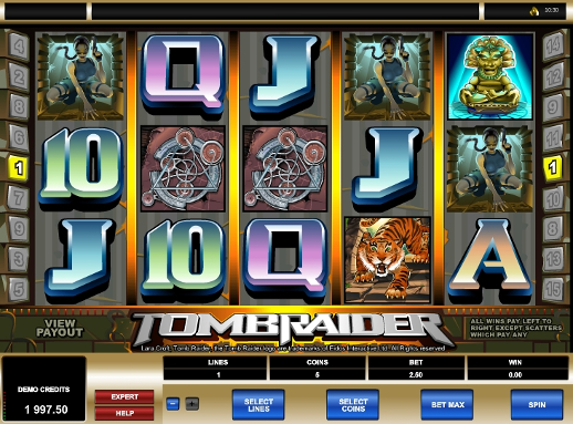 tomb raider slot machine free