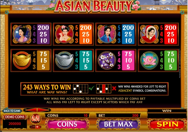 play asian beauty slot