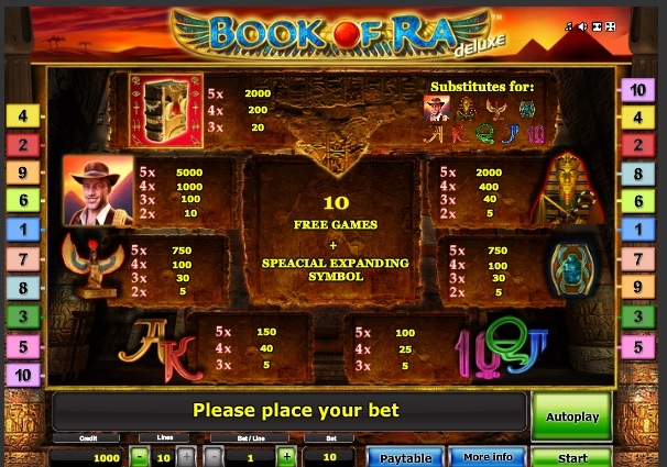 online casino slot slot book of ra free