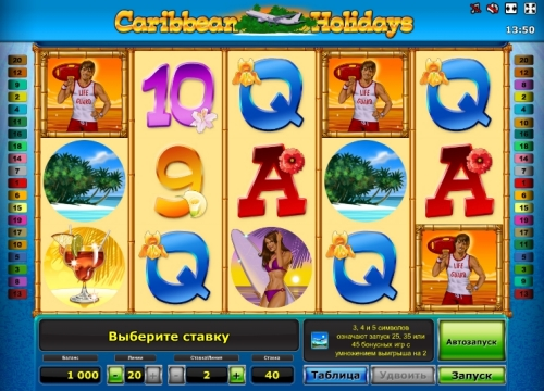 Enjoy Caribbean Holidays slot game