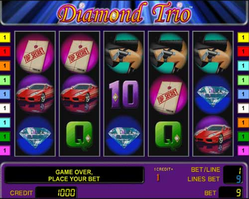 Play Diamond Trio slot game for free
