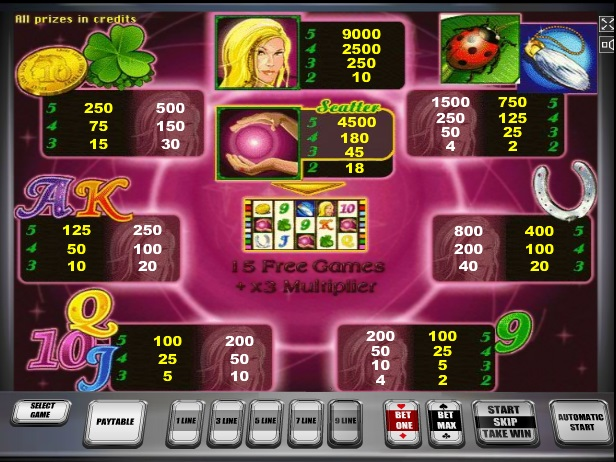 free online slots with bonus lady lucky charm