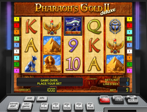 Gamble Pharaohs Gold 2 deluxe