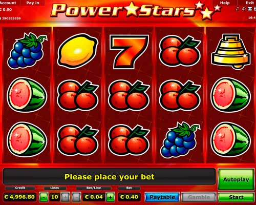 free slots machine online power star