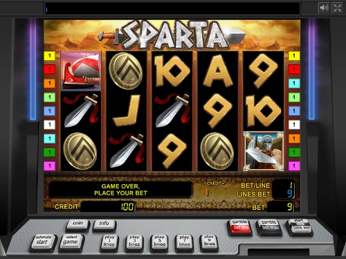 Try Spart slot machine for free