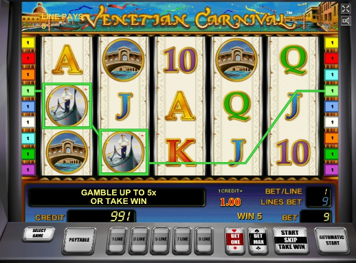 Gamble Venetian Carnival slot machine