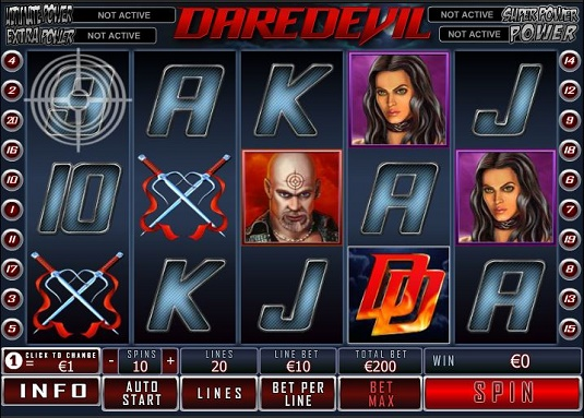 Daredevil™ Slot Machine Game to Play Free in Playtechs Online Casinos