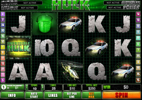 Gamble Incredible Hulk slot machine