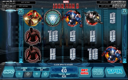 Gamble Iron Man 3 slot game