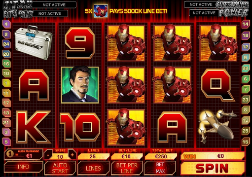 Gamble free Iron Man slot machine