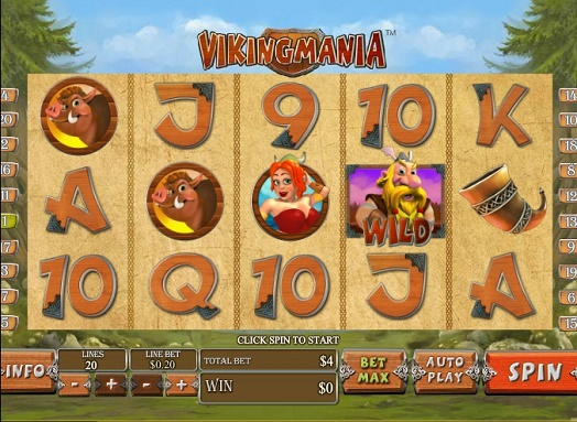 Gamble Viking Mania slot machine online