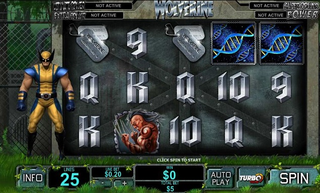 Gamble Wolverine slot machine for free